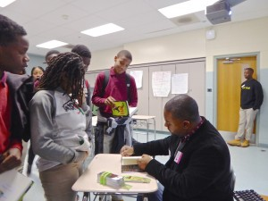 Lamar Signing at Kelly Miller Middle School, Washington, DC